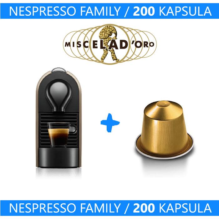 Nespresso Family - Aparat + 200