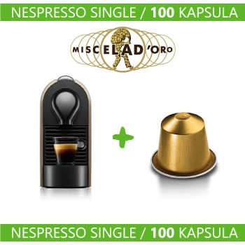 Nespresso Single - Aparat + 100